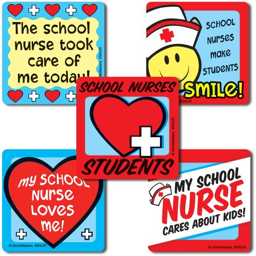 School Nurse Stickers - 100 Per Pack