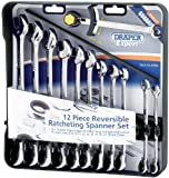Draper Expert 07036 Reversible Ratcheting Spanner Set (12 Pieces)