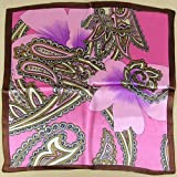 Fashion Floral Prints Square Scarf 100% Silk Twill Shawl Wrap Bandana Xmas Presents