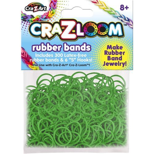 Cra-Z-Loom Rubber Band Basic Colors Refill - Dark Green by Unknown - 1