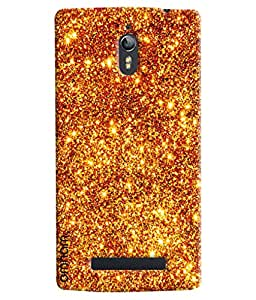 Omnam fire Crystal Sand printed back cover for Oppo Find 7