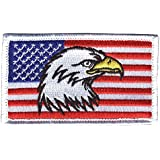 Eagle Crest American Flag With Eagle USA 2 X 3 Hook & Loop 2 Piece Patch
