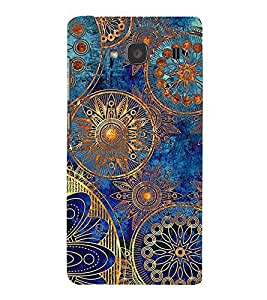Fuson Premium Back Case Cover Ethic pattern With yellow Background Degined For Xiaomi Redmi 2S::Xiaomi Redmi 2::Xiaomi Redmi 2 Prime