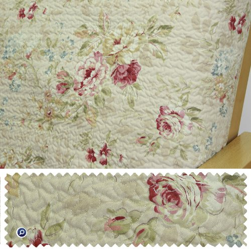 Quilted Floral Cream Daybed Cover Twin 202 front-1015061