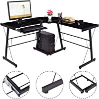 GoPlus L-Shape Computer Desk PC Laptop Corner Table