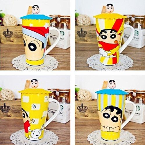Crayon Shin-Chan Ceremic Cup Coffee Mug With Lid