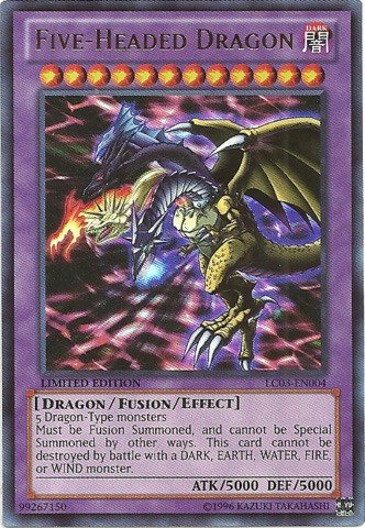 Yu-Gi-Oh! - Five-Headed Dragon (LC03-EN004) - Legendary Collection 3: Yugi's World - Limited Edition - Ultra Rare (Yugioh Cards Master compare prices)