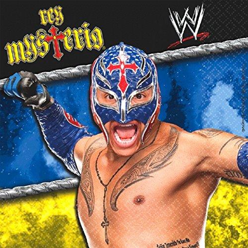 "Grand Slammin' WWE Rey Mysterio Birthday Party Lunch Napkins, 6.5 x 6.5"", Multi"