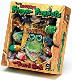 Pattie L. Schnetzler Ten Little Dinosaurs Finger Puppet and Board Book with Finger Puppets (Eyeball Animation!)