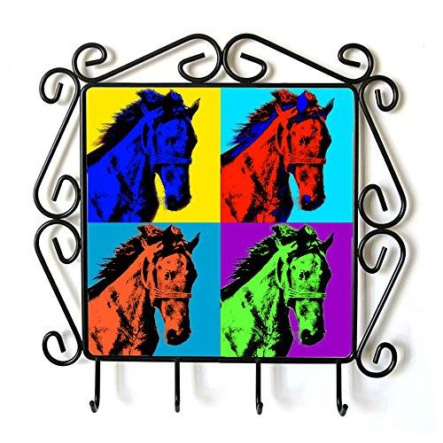 Mustang, Appendiabiti con l'immagine di un cavallo, Andy Warhol Style