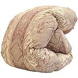 昭和西川 日本製 羽毛布団 シングル 150×210cm ホワイトダウン85% 472柄 ピンク