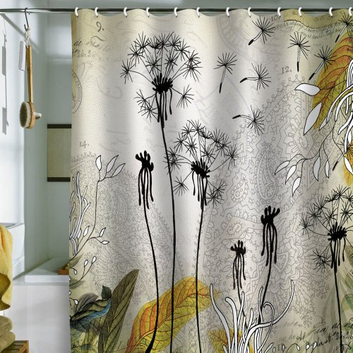 DENY Designs Iveta Abolina Little Dandelion Shower Curtain, 69 by 72