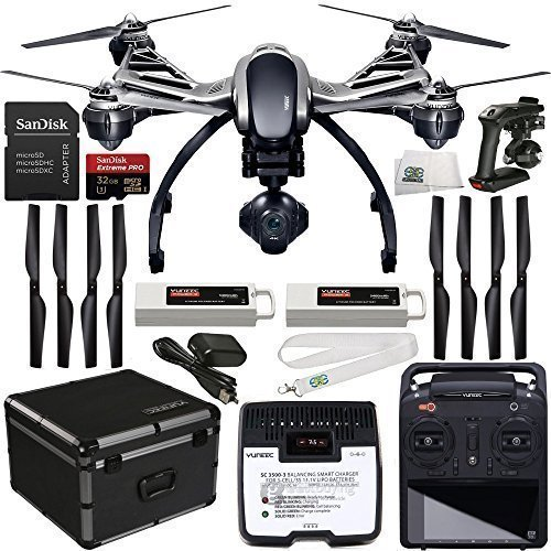 Typhoon-Q500-4K-Quadcopter-with-4K-UHD-1080P-120FPS-HD-124MP-CGO3-No-Distorsion-Lens-3-Axis-Gimbal-and-ST10-Large-Touch-Screen-Display-55-inches-16GB-microSD-by-Yuneec