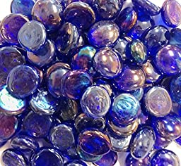 Miracolors - 5 Lb - Cobalt Blue Irid. Gems - Vase Fillers (17-19mm, Approx. 3/4\