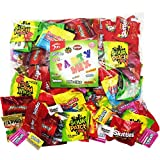 Halloween Candy Party Mix Bulk Bag of 3 Lbs Skittles Swedish Fish Nerds Haribo Gummy Sour Patch Twizzlers Life Savers Starbutst Mike and Ike Custom Varietea Peppermints n' more! Net wt 3.0 LB/48 oz