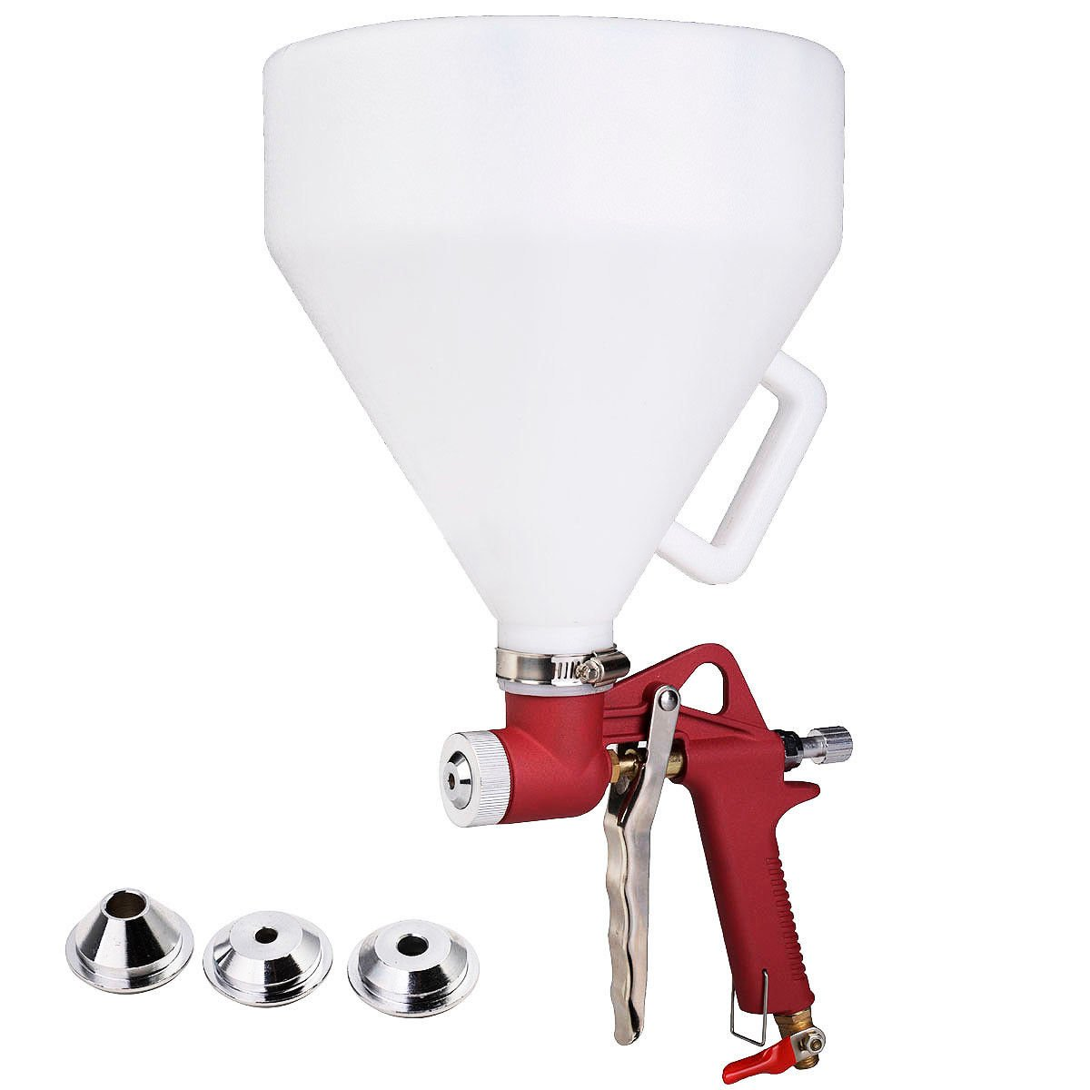 цены  Super buy 1.45 Gallon Air Hopper Spray Gun Paint Texture Tool Drywall Wall Painting Sprayer w/3 Nozzle