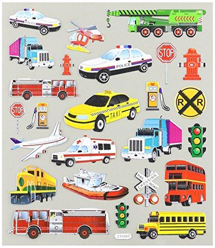 Multi-Colored Stickers-Transportation