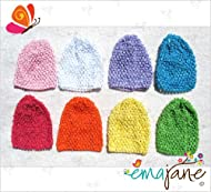 8 pack of super soft  crochet baby beanie waffle hats  flowers not