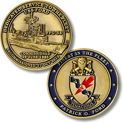USS Ford (FFG-54) Challenge Coin (Uss Ford compare prices)