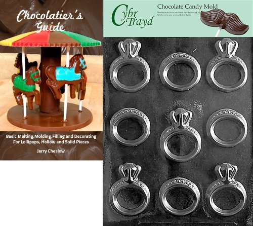 Cybrtrayd F078 Maple Leaves Chocolate Candy Mold with Exclusive Copyrighted Molding Instructions