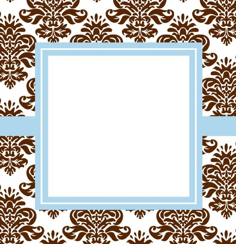 Three Designing Women Designer Gift Tags, Brown Damask Collection front-76140