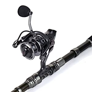 Sougayilang Telescopic Fishing Rod Reel Combos with Carbon