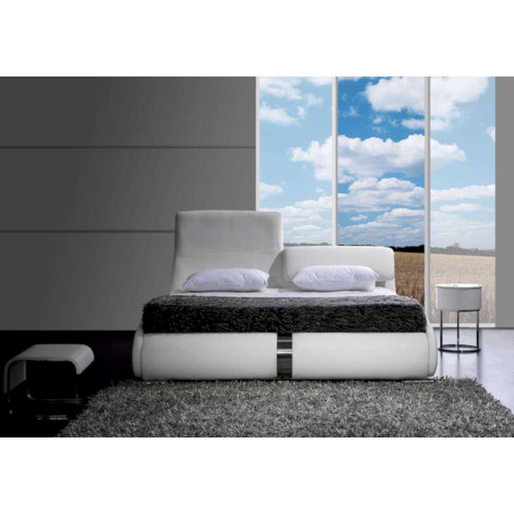 JUSThome Luca Weiß Polsterbett Ekoleder Größe 140×200 cm günstig bestellen