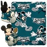 NFL Philadelphia Eagles Mickey Mouse Pillow with Fleece Throw Blanket Set