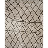 Safavieh Belize Shag Collection SGB482D Taupe and Grey Area Rug, 5-Feet 1 inch by 7-Feet 6-Inch