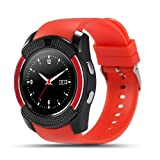 NOKKOO Smart Band Smart Bracelet Smart Phone Watch V8 Sports Smartwatch Bluetooth 4.0 Message Push, Sedentary Reminder, Pedometer, Sleep Monitoring Wristband iOS/Android Phone (Red) (Color: Red)