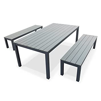 Alice's Garden - Table de jardin en bois, structure ...