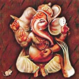 "Dolls Of India ""Ganesha"" Reprint On Card Paper - Unframed (15.88 X 15.88 Centimeters)"