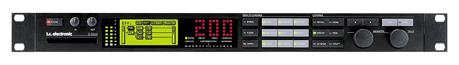 TC Electronic G-Force Rack Mount Guitar Multi Effects Processor with 8 Simultaneous Effects and Memory Card Slot
