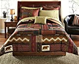 Southwest Cabin Bear Queen Comforter Set (8 Piece Bed In A Bag)