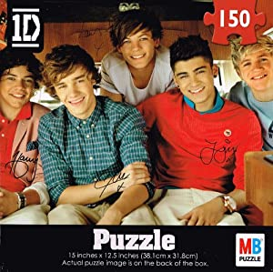 1D One Direction 150 Piece Jigsaw Puzzle with the Group Sitting Together. from Cardinal Industries