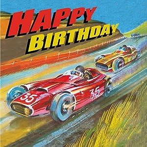 Amazon.com: Vintage racing cars birthday card for boys: Kitchen