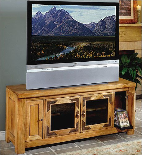 Cheap Artisan Home Furniture 60 inch Wide TV Stand with Media Storage (LHR110 STAND) (LHR110STAND)