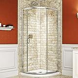 DreamLine Solo Frameless Sliding Shower Enclosure and SlimLine 38