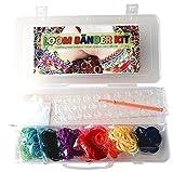 Loom Kit bandas Set inicio con 1000 bandas Telares y aguja croched