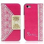 Culater�Hot Pink Cute Flip Wallet Lea...