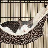 LIVEHITOP Pet Cage Hammock Lustige Comfy Leopard Design Hängende Hängematte