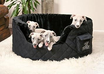 Knuffelwuff  - Cuccia per cane Henry, in schiuma da 5cm, msiure: M-XXXL, colore: Marrone, Grigio, Nero e Beige