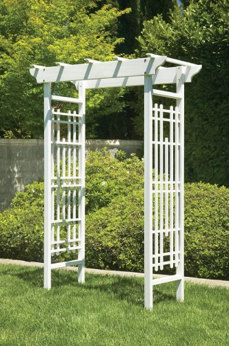 Greenstone White Wedding Arbor.