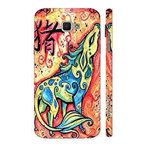 Enthopia Designer Hardshell Case Chinese Zodiac Pig Back Cover for Samsung Galaxy J7 Prime SM-G610F