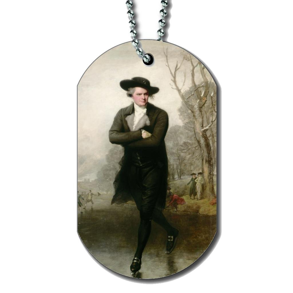 The Skater By Gilbert Stuart - Dog Tag Necklace rosenfelt d dog tags