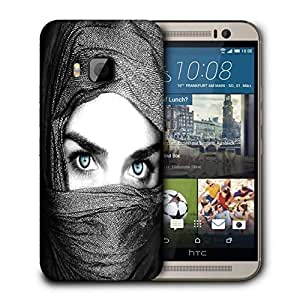Snoogg Girl Covering Her Face Printed Protective Phone Back Case Cover For HTC One M9