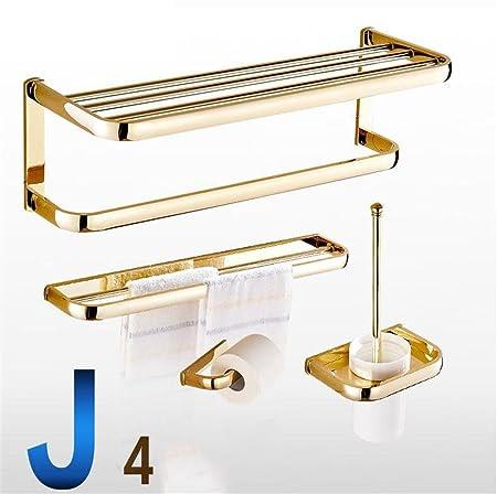 Mensole bagno Portasciugamani stile tutto tovagliolo di rame Rack Bagno Gold Pendant asciugamani da bagno Zhiwu Jia Suits - europea bagno Ripiani ( Colore : 9# )