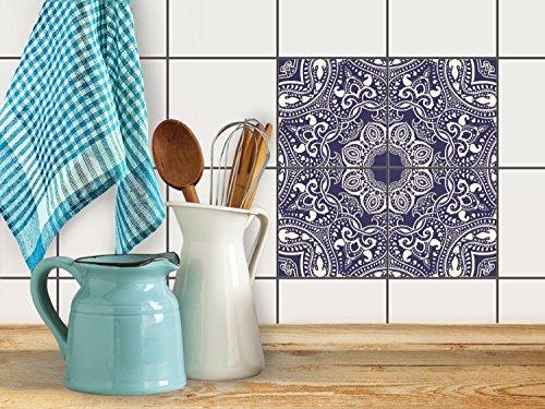 fliesenfolie selbstklebend 20x20 cm 2x2 design blue. Black Bedroom Furniture Sets. Home Design Ideas