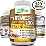 Turmeric Curcumin with BioPerine® Black Pepper 1300mg (120 Capsules) | Anti-inflammatory, Antioxidant & Anti-aging. All Natural, Non GMO, Gluten FREE, for Pain Relief, Joint Support | by -NutriFlair-