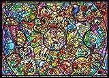 ディズニー オールスター ステンドグラス<ホログラム> マルチアングルアート 500ピース テンヨー テンヨーD500-457オールスターステンドグラス D-500-457